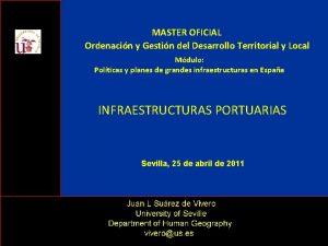 MASTER OFICIAL Ordenacin y Gestin del Desarrollo Territorial