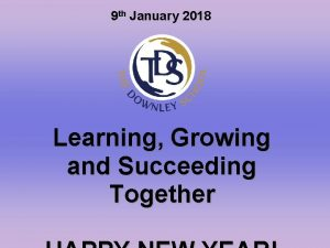 9 th January 2018 Learning Growing and Succeeding