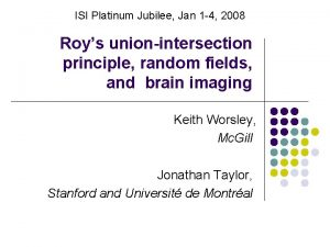 ISI Platinum Jubilee Jan 1 4 2008 Roys