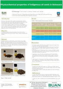 Physicochemical properties of indigenous oil seeds in Botswana
