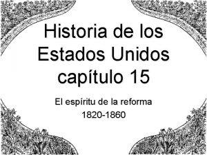 Historia de los Estados Unidos captulo 15 El