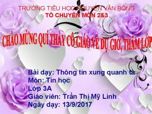 TRNG TIU HC NGUYN VN BNG T CHUYN