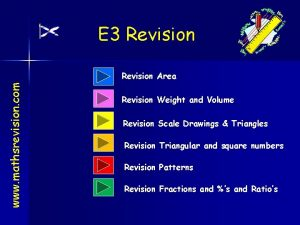 E 3 Revision www mathsrevision com Revision Area