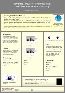 Template 70 x 100 cm scientific poster with