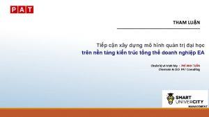 THAM LUN Tip cn xy dng m hnh