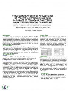 ATITUDES MOTIVACIONAIS DE ADOLESCENTES DO PROJETO UNIVERSIDADE CAMPE