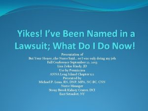 Yikes Ive Been Named in a Lawsuit What