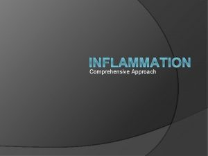 INFLAMMATION Comprehensive Approach Inflammation and repair Inflammation is