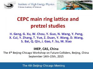 CEPC main ring lattice and pretzel studies H