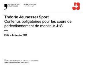 Service du sport SSpo Amt fr Sport Sp