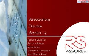 Assores Academy ASSOCIAZIONE ITALIANA SOCIET DI RICERCA E