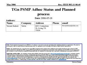 May 2006 doc IEEE 802 11 06r 0