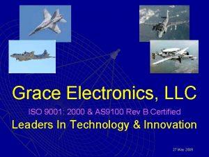 Grace Electronics LLC ISO 9001 2000 AS 9100