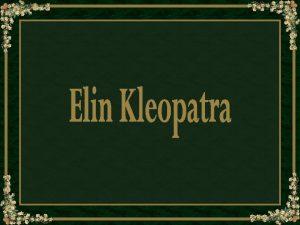 Elin Kleopatra DanielsonGambogi nasceu Noormarkku Finlndia em 3