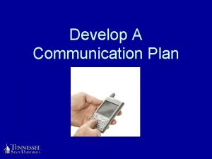 Develop A Communication Plan Family Communication Plan Know