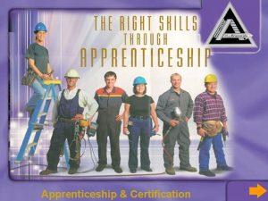 Apprenticeship Certification Mandate of Apprenticeship Certification Designate occupations