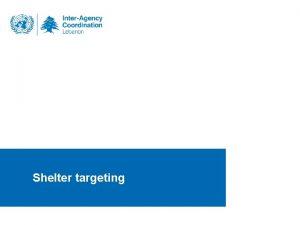 Shelter targeting 30092014 Shelter targeting Old Density x