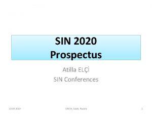 SIN 2020 Prospectus Atilla EL SIN Conferences 13
