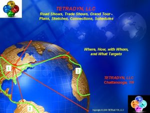 TETRADYN LLC Road Shows Trade Shows Grand Tour