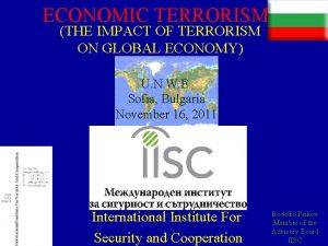 ECONOMIC TERRORISM THE IMPACT OF TERRORISM ON GLOBAL