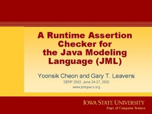 A Runtime Assertion Checker for the Java Modeling
