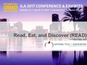 Read Eat and Discover READ in Partnership with