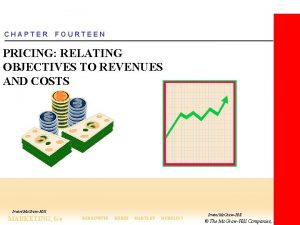 CHAPTER FOURTEEN PRICING RELATING OBJECTIVES TO REVENUES AND