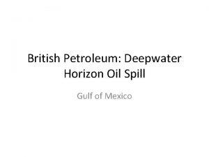 British Petroleum Deepwater Horizon Oil Spill Gulf of