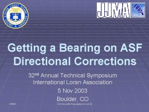 Getting a Bearing on ASF Directional Corrections 32