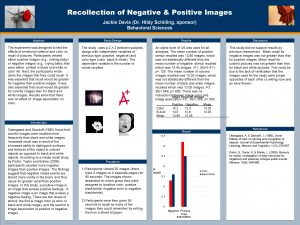 Recollection of Negative Positive Images OPTIONAL LOGO HERE