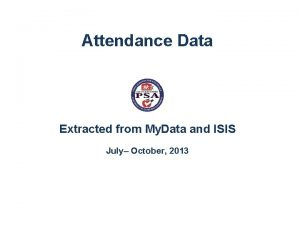 Attendance Data Extracted from My Data and ISIS