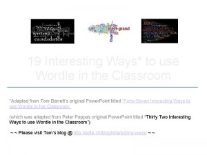 19 Interesting Ways to use Wordle in the