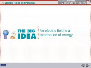 33 Electric Fields and Potential An electric field