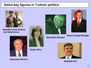 Some key figures in Turkish politics Mustafa Kemal