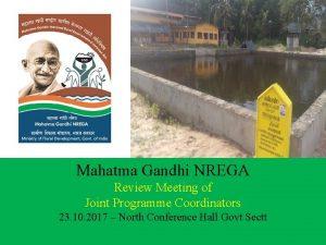 Mahatma Gandhi NREGA Review Meeting of Joint Programme