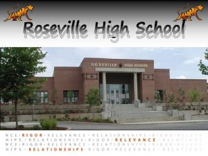 Roseville High School Agenda 1 Learn more about