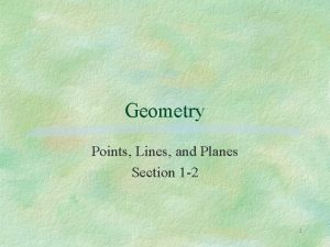 Geometry Points Lines and Planes Section 1 2