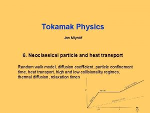 Tokamak Physics Jan Mlyn 6 Neoclassical particle and