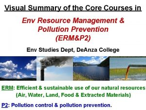 Visual Summary of the Core Courses in Env