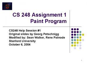 CS 248 Assignment 1 Paint Program CS 248