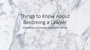 Things to Know About Becoming a Lawyer A