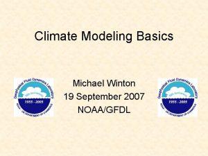 Climate Modeling Basics Michael Winton 19 September 2007