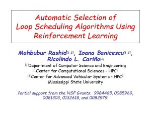 Automatic Selection of Loop Scheduling Algorithms Using Reinforcement