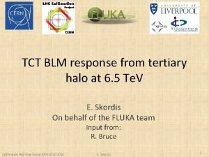 TCT BLM response from tertiary halo at 6