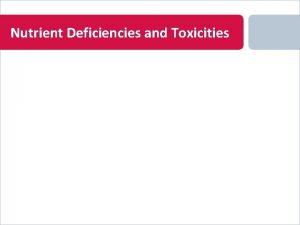 Nutrient Deficiencies and Toxicities Nitrogen Deficiency on Chrysanthemum