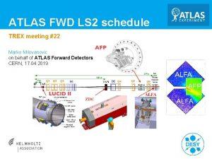 ATLAS FWD LS 2 schedule TREX meeting 22