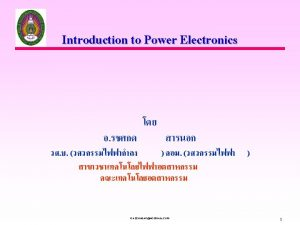 What is Power Electronics Electrical Power Power Semiconductor