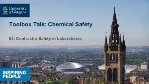 Toolbox Talk Chemical Safety 04 Contractor Safety in