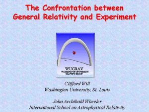 The Confrontation between General Relativity and Experiment Clifford
