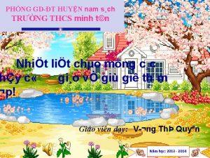 PHNG GDT HUYN nam sch TRNG THCS minh